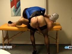 Horny crossdresser Lisa loves sucking cock while her ass is finger fucked