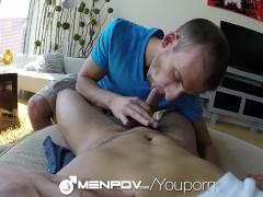 MenPOV - Oral Fun in the Car for Antonio Paul & Davey Anthony
