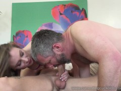 Anya Olsen Makes Husband Clean Up Her Wet Fucked Pussy